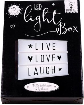 led leuchtkasten inkl buchstaben symbole batteriebetrieb. Black Bedroom Furniture Sets. Home Design Ideas
