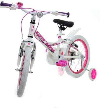 16 zoll m dchen fahrrad kinderfahrrad sharky wei pink. Black Bedroom Furniture Sets. Home Design Ideas