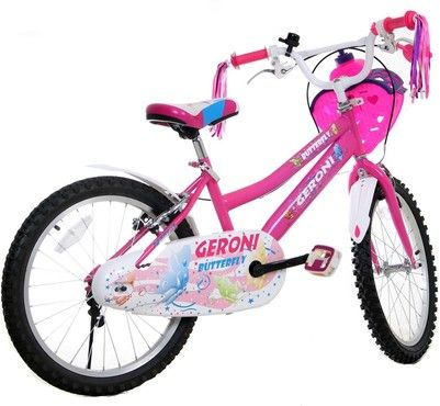 m dchen fahrrad kinder fahrrad butterfly 20 zoll in pink. Black Bedroom Furniture Sets. Home Design Ideas