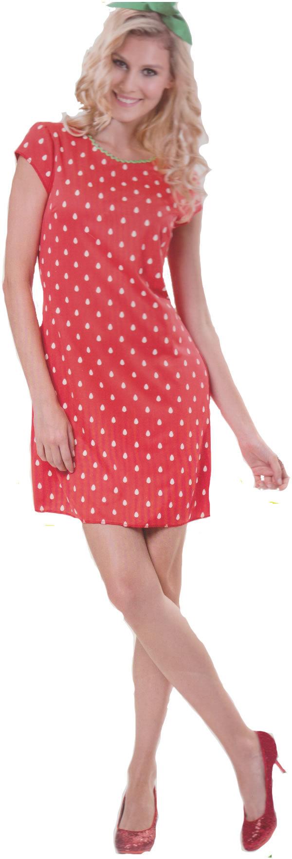 e09aa0e82367f9 Damen Kostüm Verkleidung für Karneval Fasching Halloween Parties -  Erdbeer-Lady