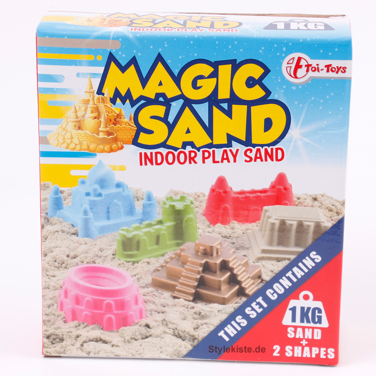 Magic Sand IndoorPlay Sand Kinetischen Sand blau 1000 gr & 2 Formen