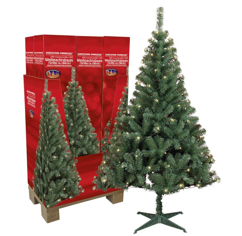 Kunststoff Weihnachtsbaum Kaufen.Künstlicher Weihnachtsbaum Mit Led Beleuchtung 180cm Hoch Online