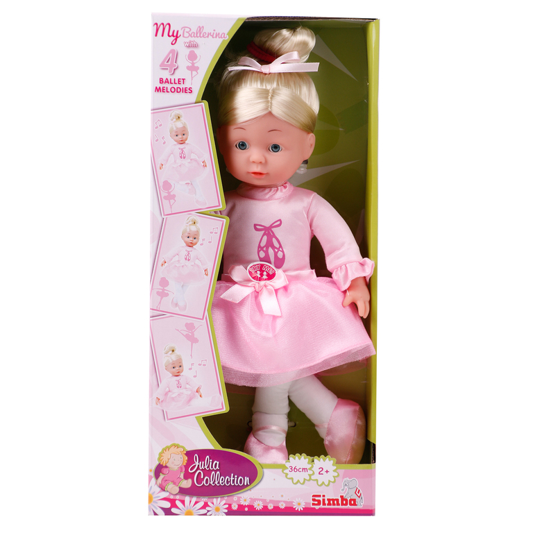 Simba Julia Collection Ballerina 36 cm Weichkörperpuppe