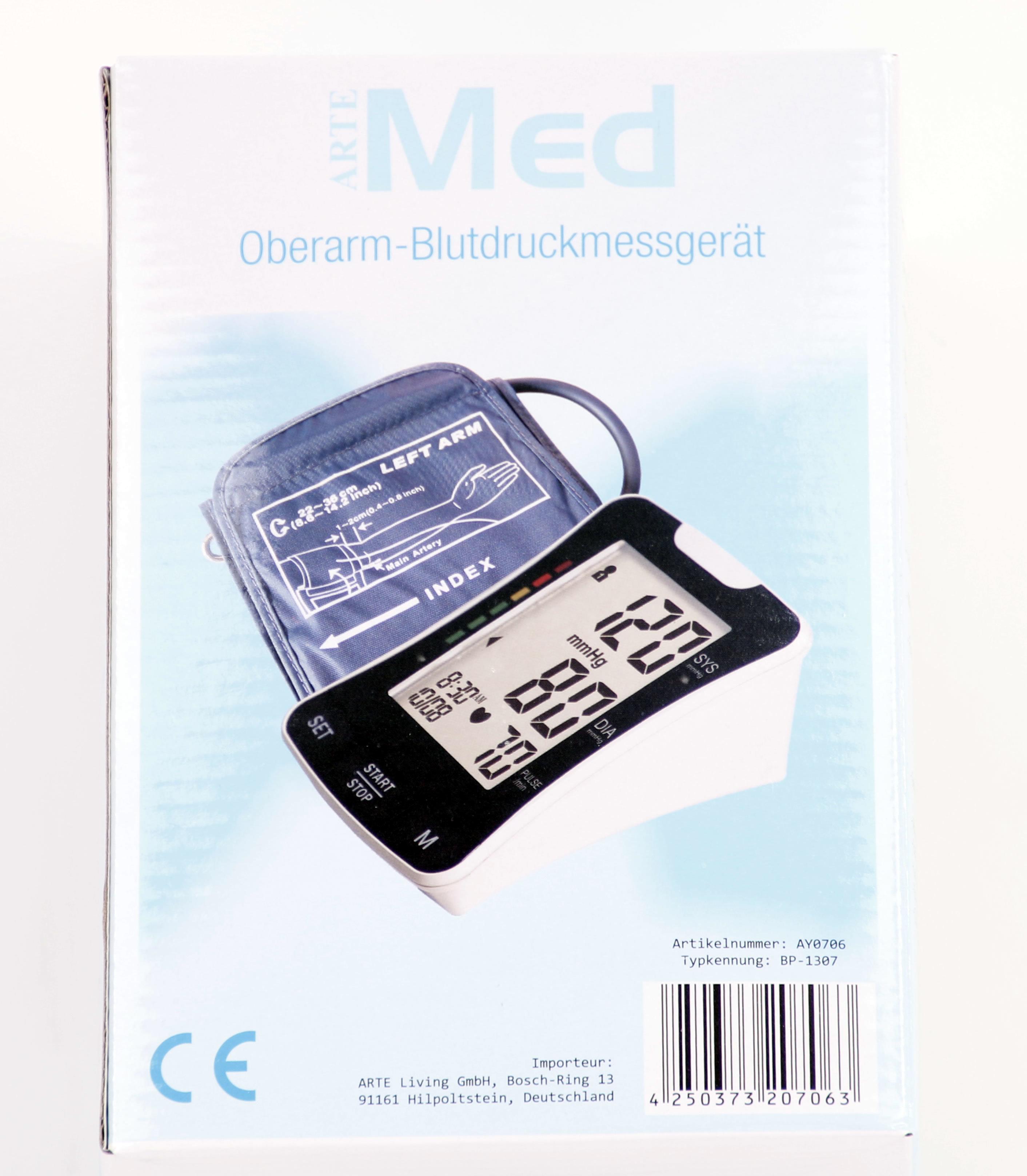 Arte Med Oberarm Blutdruckmessgerät Ay 706 Online Kaufen Stylekistede