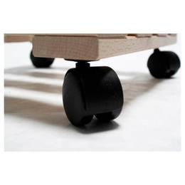 pflanzenroller holz eckig 30x30 cm blumen rollbrett stabile buche bis 120 kg ebay. Black Bedroom Furniture Sets. Home Design Ideas
