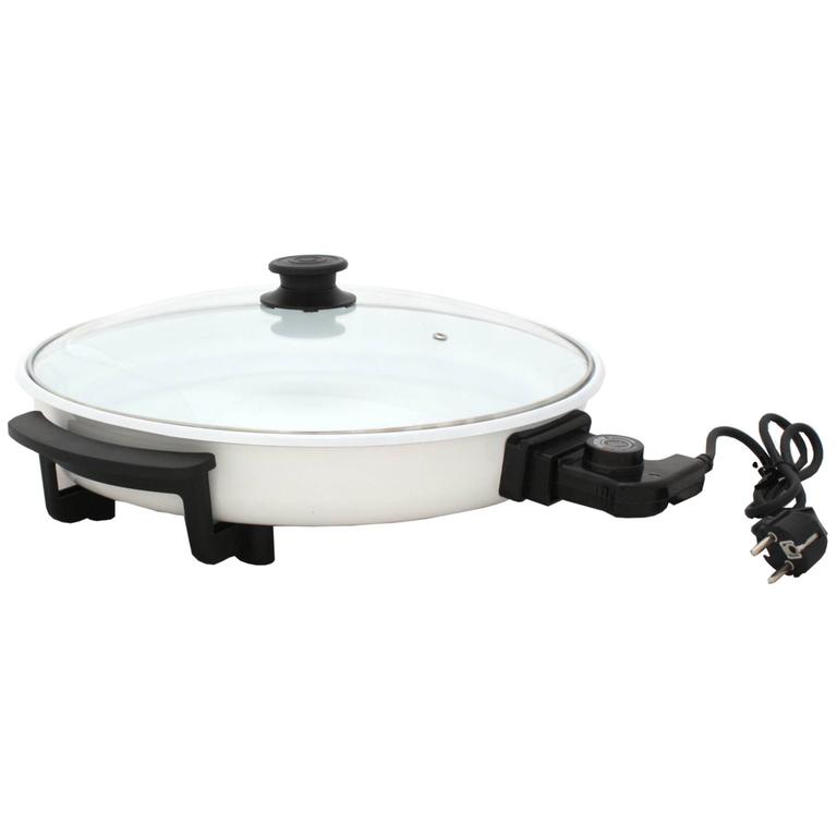 elektrische pfanne mit deckel keramikbeschichtet pizzapfanne elektropfanne ebay. Black Bedroom Furniture Sets. Home Design Ideas