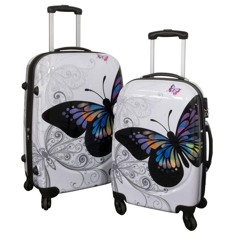 kofferset 2 teilig beautycase schminkkoffer butterfly. Black Bedroom Furniture Sets. Home Design Ideas