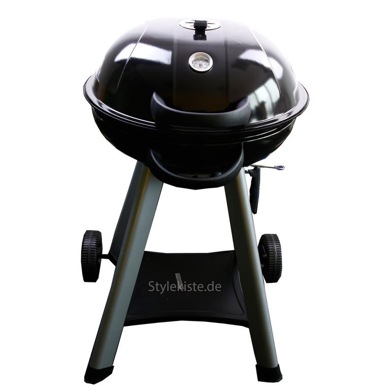 bbq grill master bowl kugelgrill mit r dern holzkohle mit haube thermometer ebay. Black Bedroom Furniture Sets. Home Design Ideas