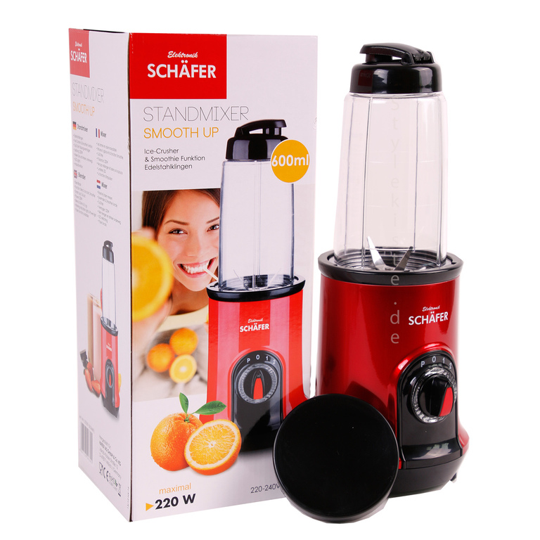 sch fer standmixer smoothie maker in rot 600 ml fassungsverm gen neu ovp. Black Bedroom Furniture Sets. Home Design Ideas