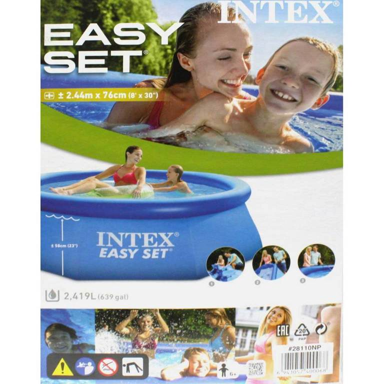 intex easy set pool 244 cm x 76 cm 128110np quick up pool. Black Bedroom Furniture Sets. Home Design Ideas