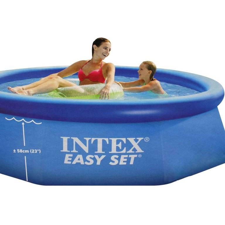 intex easy set pool 244 cm x 76 cm 128110np quick up pool. Black Bedroom Furniture Sets. Home Design Ideas
