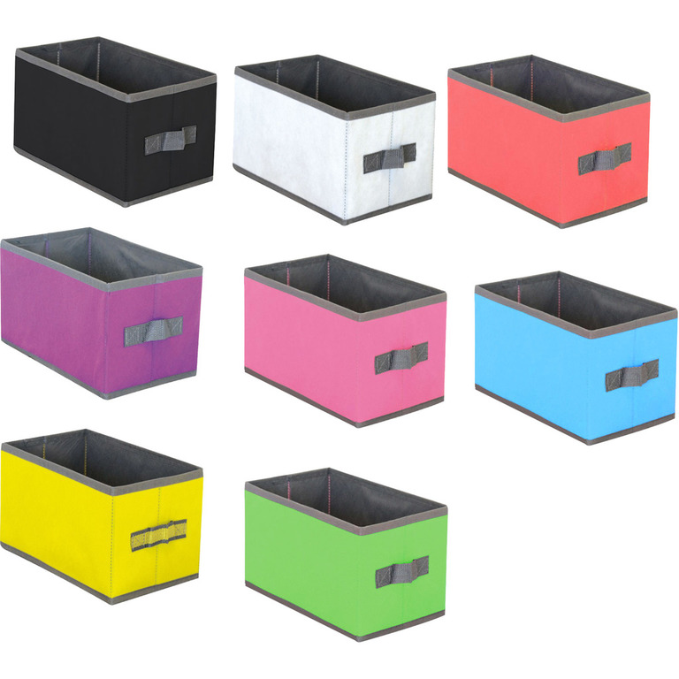 homeline aufbewahrungs box stoff 15x25x15 cm verschiedene farben ordnungsbox ebay. Black Bedroom Furniture Sets. Home Design Ideas