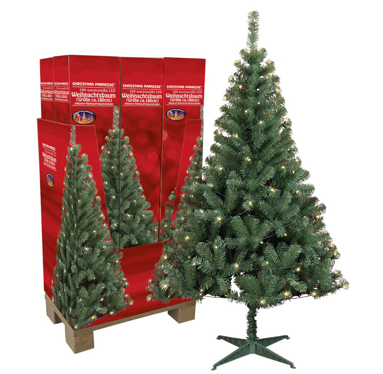 k nstlicher weihnachtsbaum mit beleuchtung und st nder 180 cm tannenbaum ovp ebay. Black Bedroom Furniture Sets. Home Design Ideas