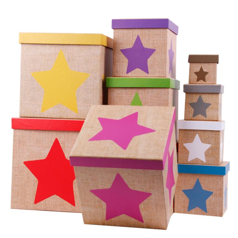 Aufbewahrungsbox mit deckel 10tlg set motiv stern f r - Aufbewahrungsboxen kinderzimmer design ...
